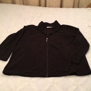 D & Co Active black fleece jacket and pants